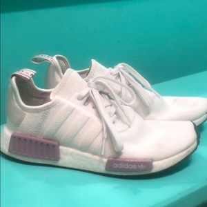 Adidas nmd pink and white like new